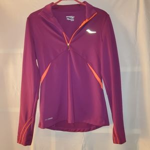 Saucony Pullover Half Zip Jacket Purple and Orange
